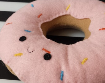 Happy Donut Plush/ Adorable Stuffed Plush Donut Toy with Sprinkles