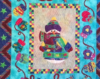 Bundled Up Snow Lady Wall Quilt