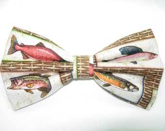 Fishing bow tie etsy for Fish bow tie