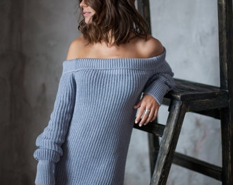 OFF SHOULDERS KNIT dress
