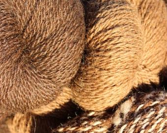 100% alpaca mill-spun,2-ply, 4 ounce skein yarn