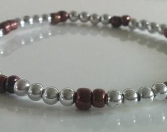 Brown Silver Bracelet