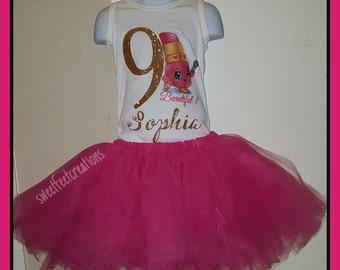 Shopkins lippy lip birthday outfit