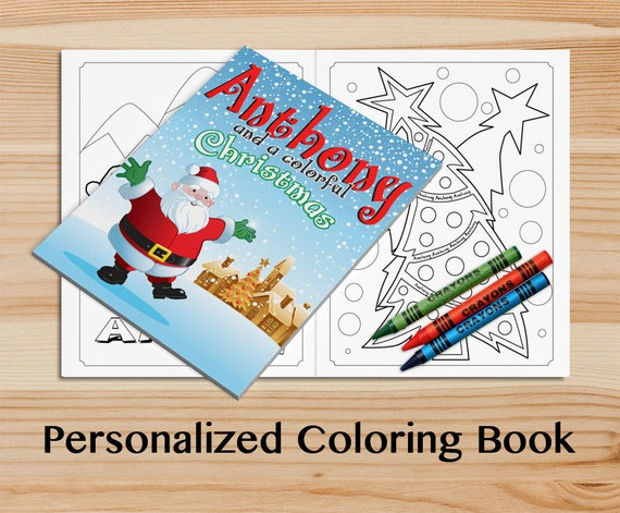 Personalized Holiday Coloring Book. A Custom Christmas