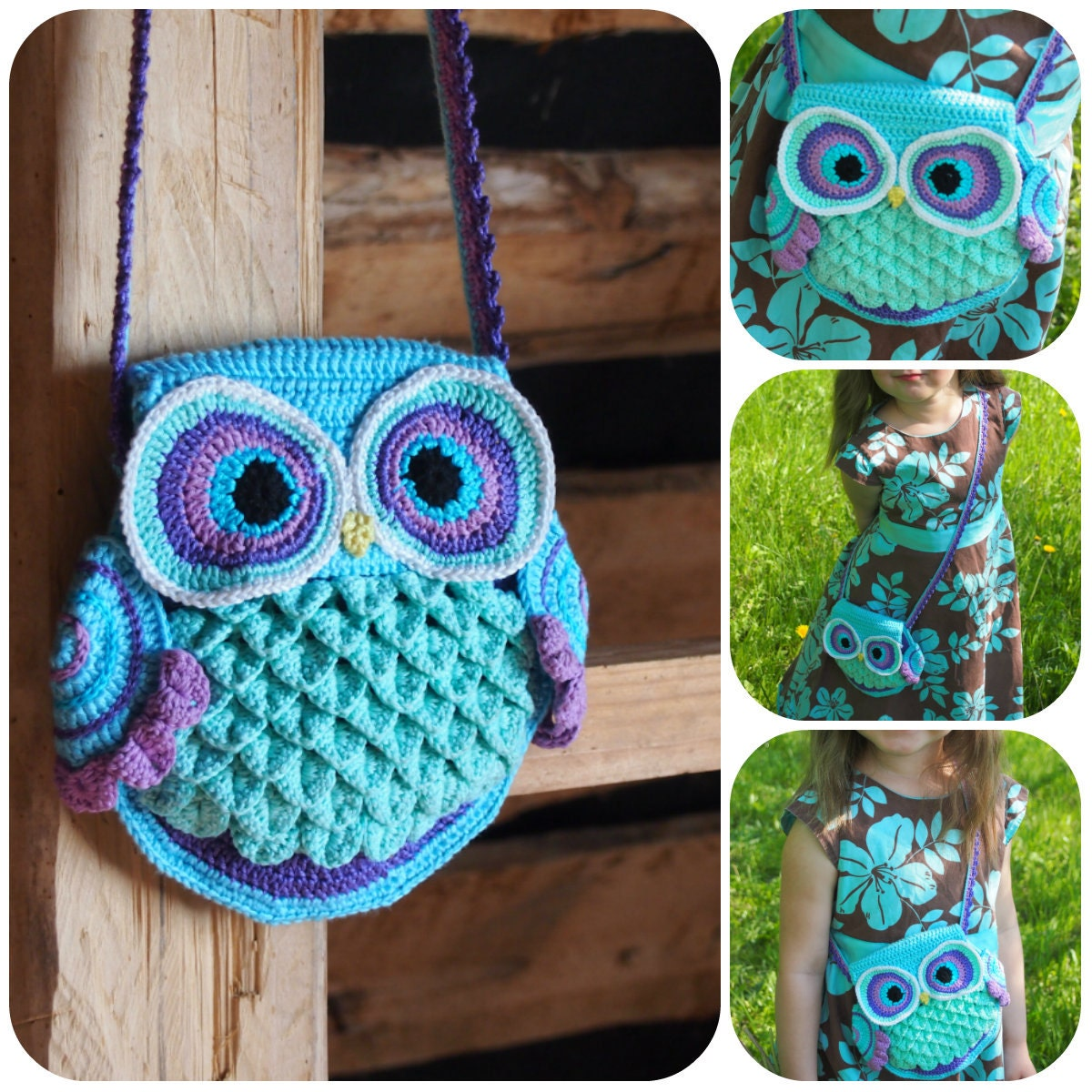 Crochet bag pattern crochet owl pattern crochet purse pattern this is a digital file bankloansurffo Image collections