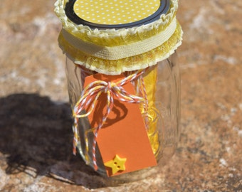 Notes in a Jar- Orange & Yellow