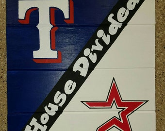 House Divided Rangers/Astros Sign
