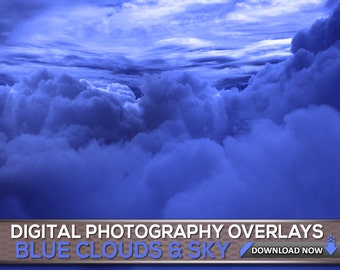60 Sky & Clouds Background Overlays - Cloud And Sky Photoshop Overlays , Digital Background, Digital Backdrop