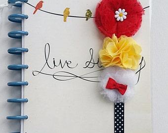 SALE Magical Red, Yellow, white Headband,Planner Band, INfant Headband,cake smash,birthday,baby shower