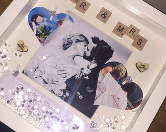 Wedding keepsake frame