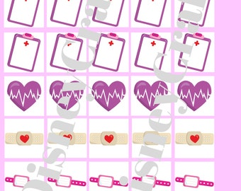 Printable planner stickers doctor hospital