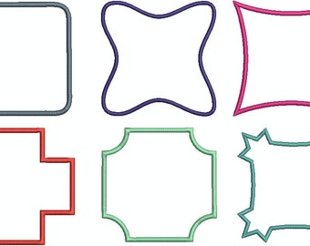 Embroidery file Frames Set of 6 for 10 x 10 cm INSTANT DOWNLOAD