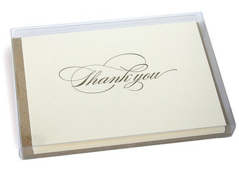 Burgues Letterpress Thank You Cards - Set of 6