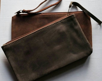 Leather hand bag clutch-bag real leather wrist-breaking-outlet-last sale