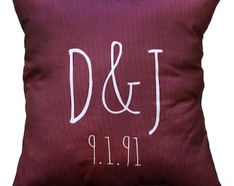 Personalized Monogram Accent Pillows - With Insert