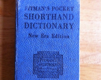 Vintage Book - Pitman's Pocket Shorthand Dictionary - New Era Edition