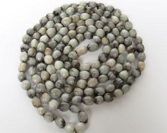 African Zulu grey seeds Imfibinga or ubuchwabasi – Extra long necklace - Set of 5 - SPECIAL OFFER!!