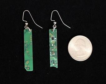 Green Motherboard Earrings