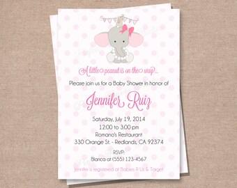Baby Shower Invitation - Boy Baby Shower Invitation - Girl Baby Shower Invitation - Elephant Baby Shower Invitation - Printable DIY