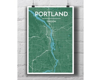 Portland, Oregon - City Map Print