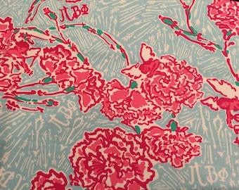 PI BETA PHI Lilly Sorority Fabric 5x5
