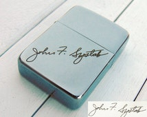Your Signature Zippo 1941 Vintage Style Lighter Handwritten Personalized Engraved Gift Boyfriend Dad Husband Grandpa Son Brother Handwriting