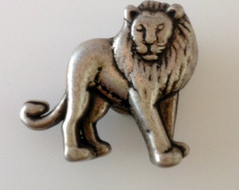 Lion button cover