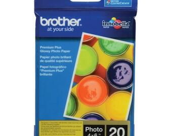 "Brother  Innobella Glossy Photo Paper (4 x 6"", 20 Sheets) BP71GP20"