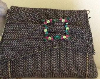 Harris Tweed Bow Clutch