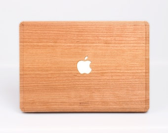 Macbook Wood Cover - Cherry Wood Cover for Macbook Air Pro - Cherry Macbook Cover
