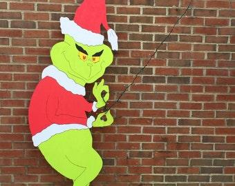 Lifesize 6ft Grinch Yard Ornament