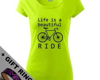 Women's Bicycle shirt,+gift, in many colours, bike shirt, Eco-friendly printed, for Everyday, for Sport, Ride, XS, S, M, L, XL, XXL