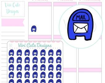 Kawaii Mail box Planner Stickers, mail stickers Mail Stickers, Post stickers, Shipping stickers, ...