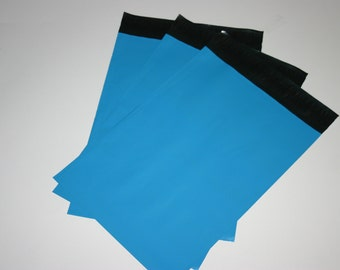 25 9x12 Poly Mailers Neon Blue Self Sealing Envelopes Shipping Bags Spring Easter