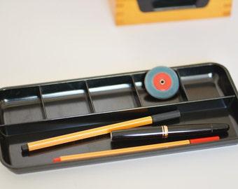 Pen tray desk Office accessory Bakelit