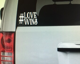 Love wins car decal