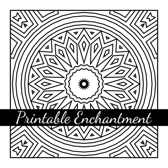 Mandala Art: Printable Coloring Page by printableEnchantment