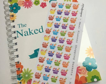 AJ6D405, Meal Planner Shopping Basket, Planner stickers.