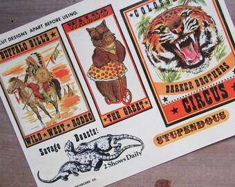 Vintage Meyercord Decal Circus Vintage Transfers