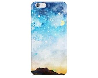 Mountain Night Sky Landscape iPhone 6 Case, Galaxy S6 Case, iPod Case