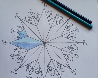 Coloring page Swirlie Star