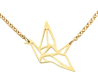 Origami Bird necklace silver 925
