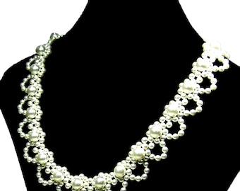 Jewelry Kits, Beading Kits, Pearl Necklace Jewelry Kit, Beading Tutorials and Patterns TB5