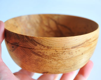 Handturned white ash wood bowl - 4.75 in. by 2.5in. - handmade office organizer - small serving bowl - gift for him - locally harvested wood