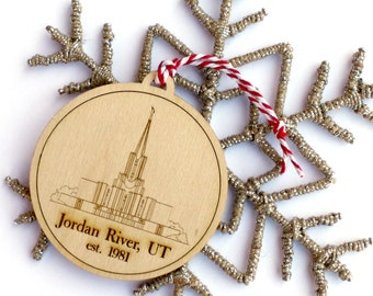 Jordan River Temple Ornament