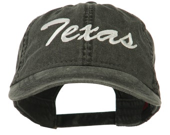 US Mid State Texas Embroidered Washed Cap