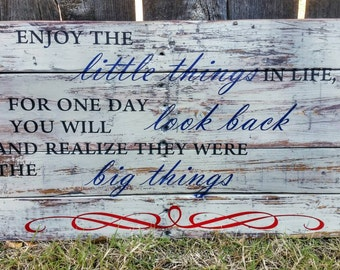Large inspirational wooden sign