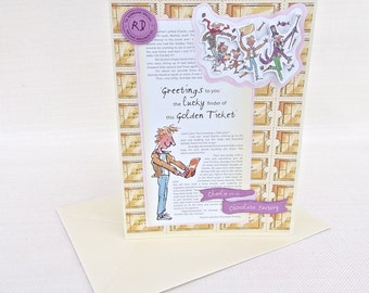 Charlie and the Chocolate Factory by Roald Dahl Greeting Card - Roald Dahl Birthday Card - Willy Wonka
