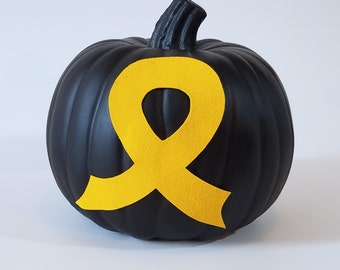 Yellow Ribbon Pumpkin - Support the USO!