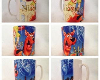 personalised mug cup brew scooby doo scrappy shaggy mystery machine fred vemla present gift